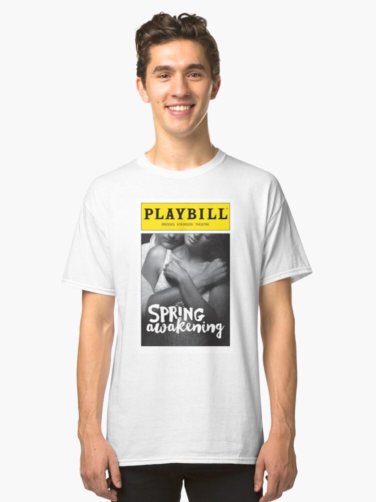 Spring awakening playbill Classic T-Shirt Front