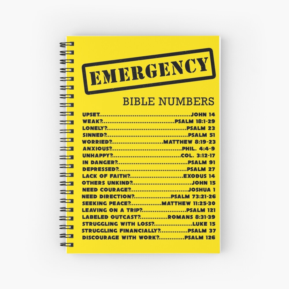 Emergency Bible Numbers Spiral Notebook