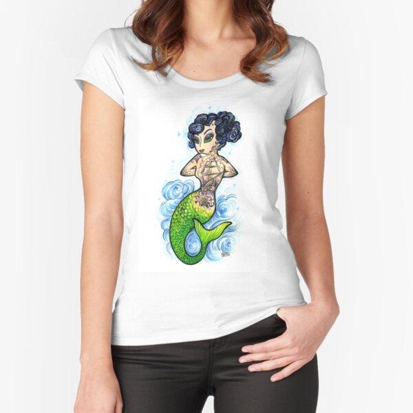 Crash Mermaid Fitted Scoop T-Shirt