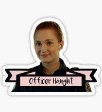 Officer Nicole Haught from Wynonna Earp Sticker