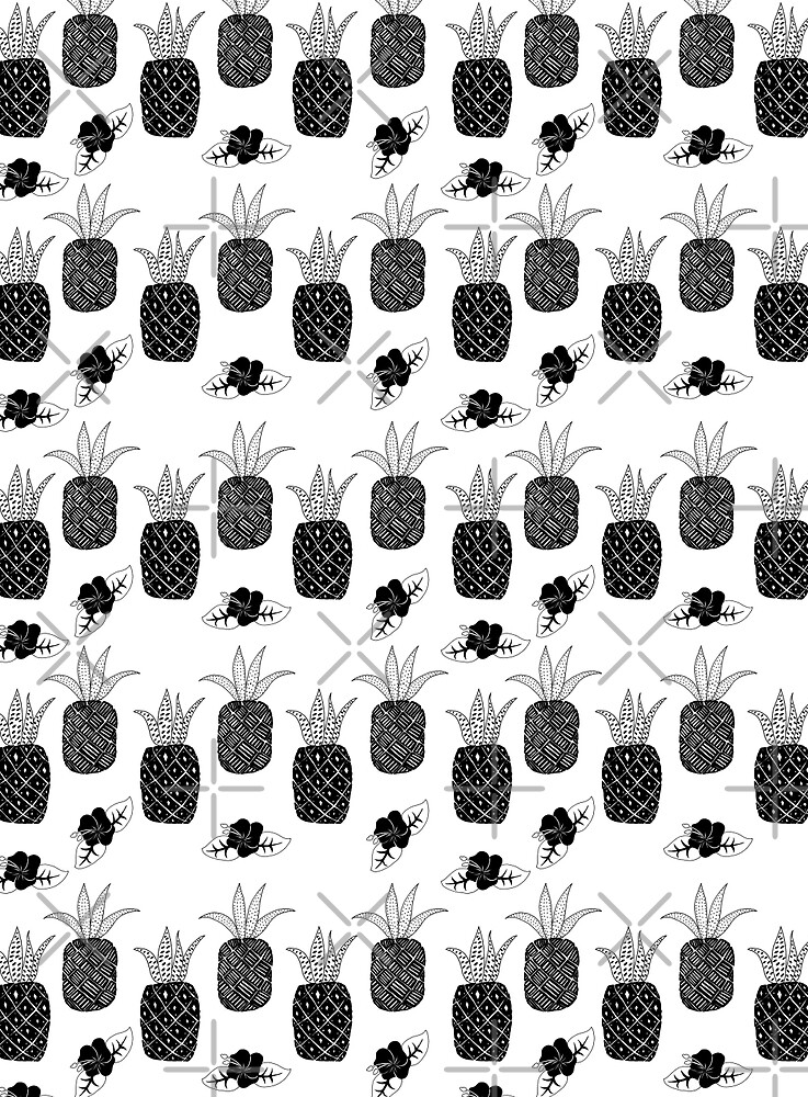 Pineapples - Black and White by SVaeth