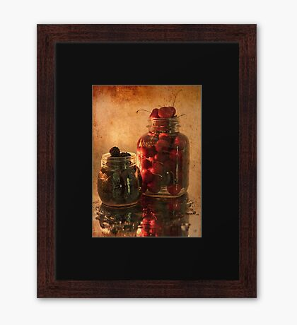 Memories - Homemade - Jambs, Cobblers and Preserves Framed Print