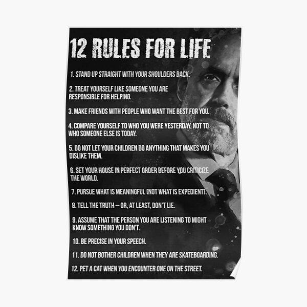 Jordan Peterson - 12 Rules for Life Poster