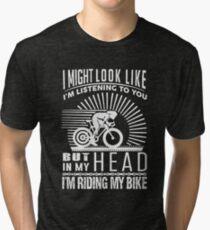 I'm Riding My Bike Tri-blend T-Shirt