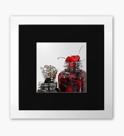 Candied Cherries Framed Print