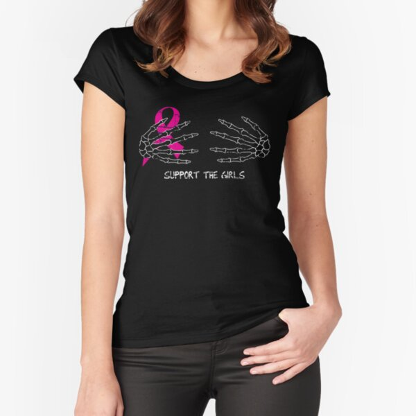 Support the Girls - Halloween (Black) Fitted Scoop T-Shirt
