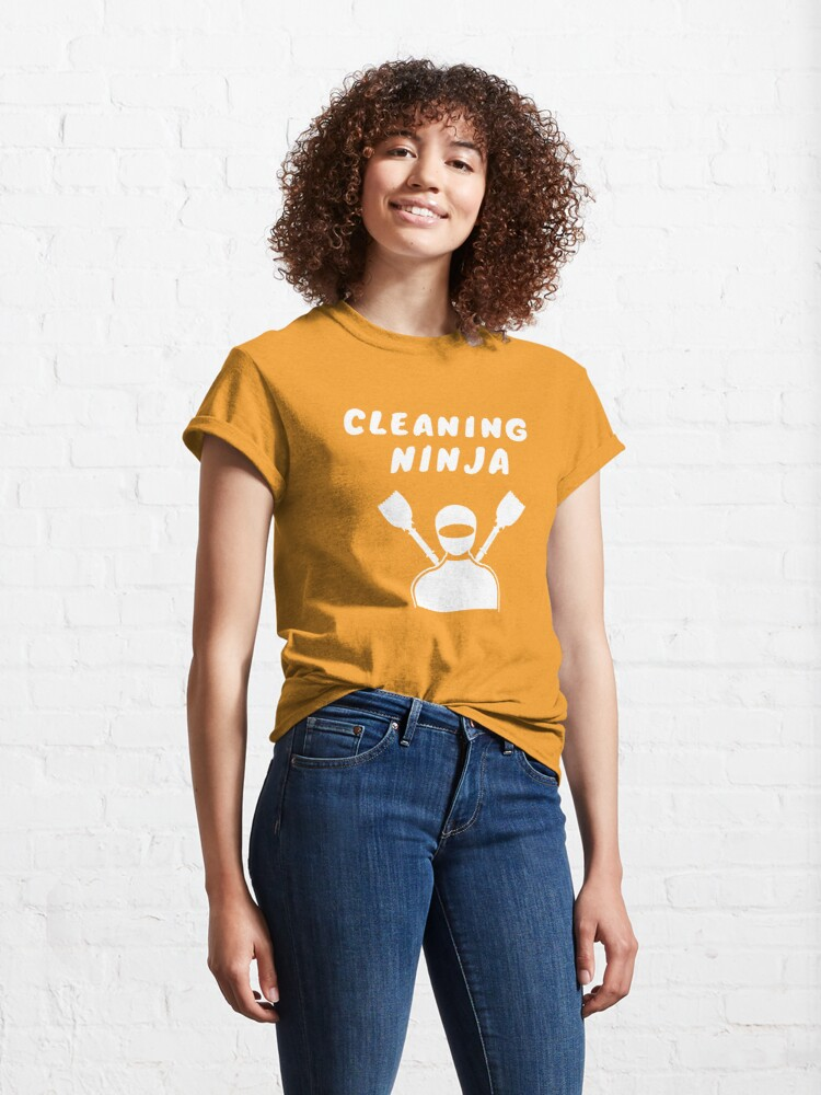 Alternate view of Cleaning Ninja Housekeeper Cleaning Crew Gifts Classic T-Shirt