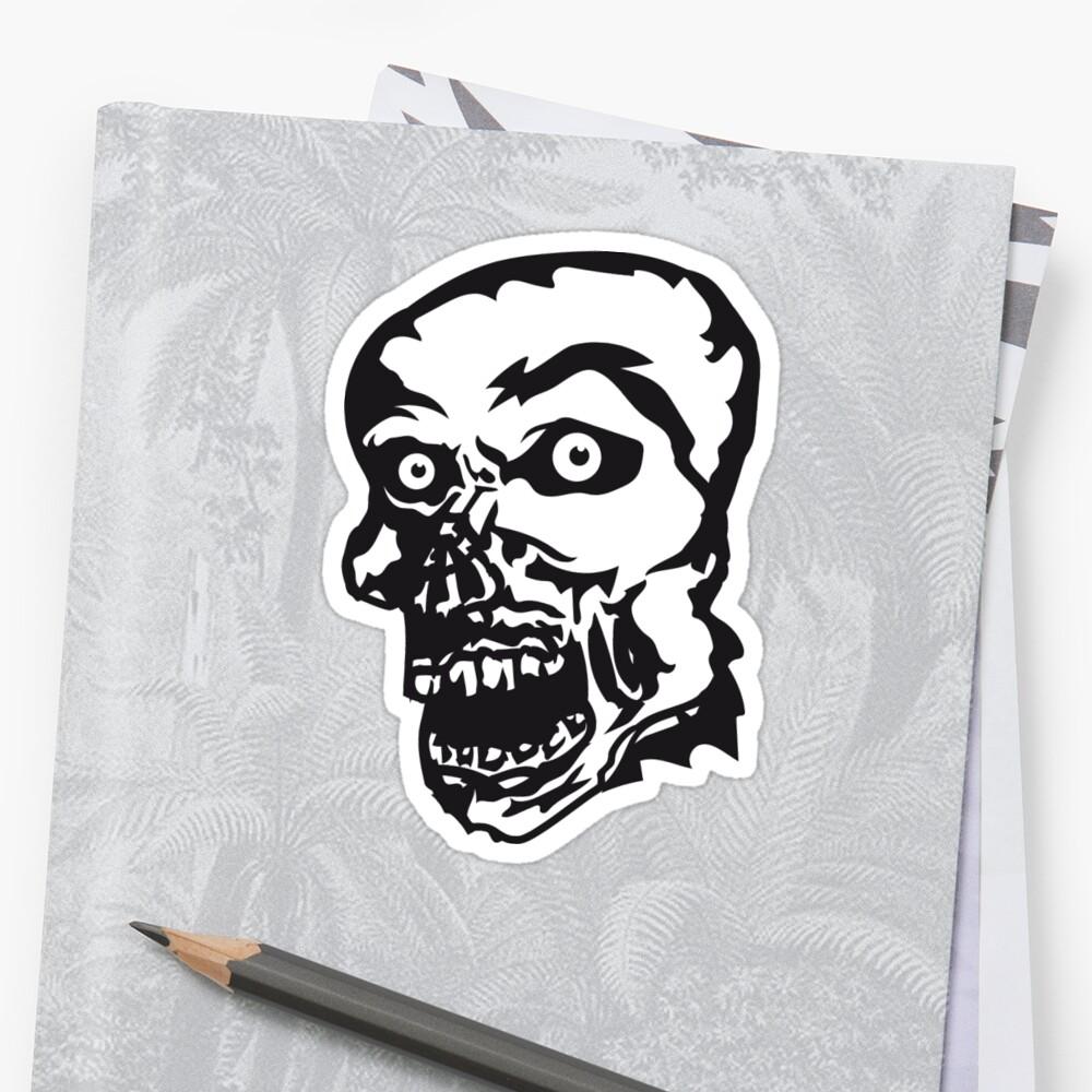 zombie face head undead horror monster halloween by Motiv-Lady
