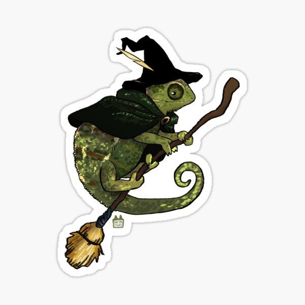 Chameleon Wizard Sticker