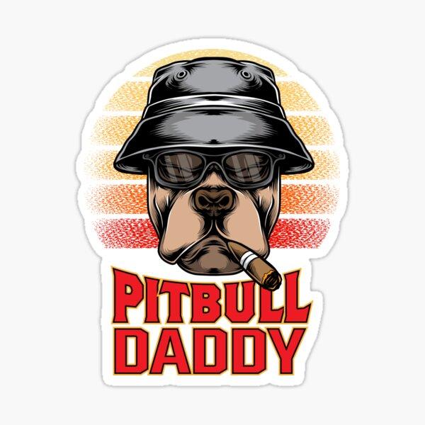 Pitbull Daddy T-shirt Sticker