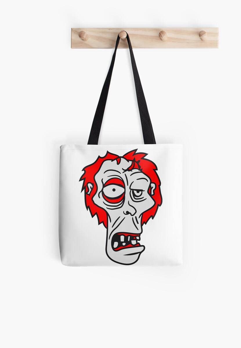zombie face head ugly comic cartoon funny horror halloween by Motiv-Lady