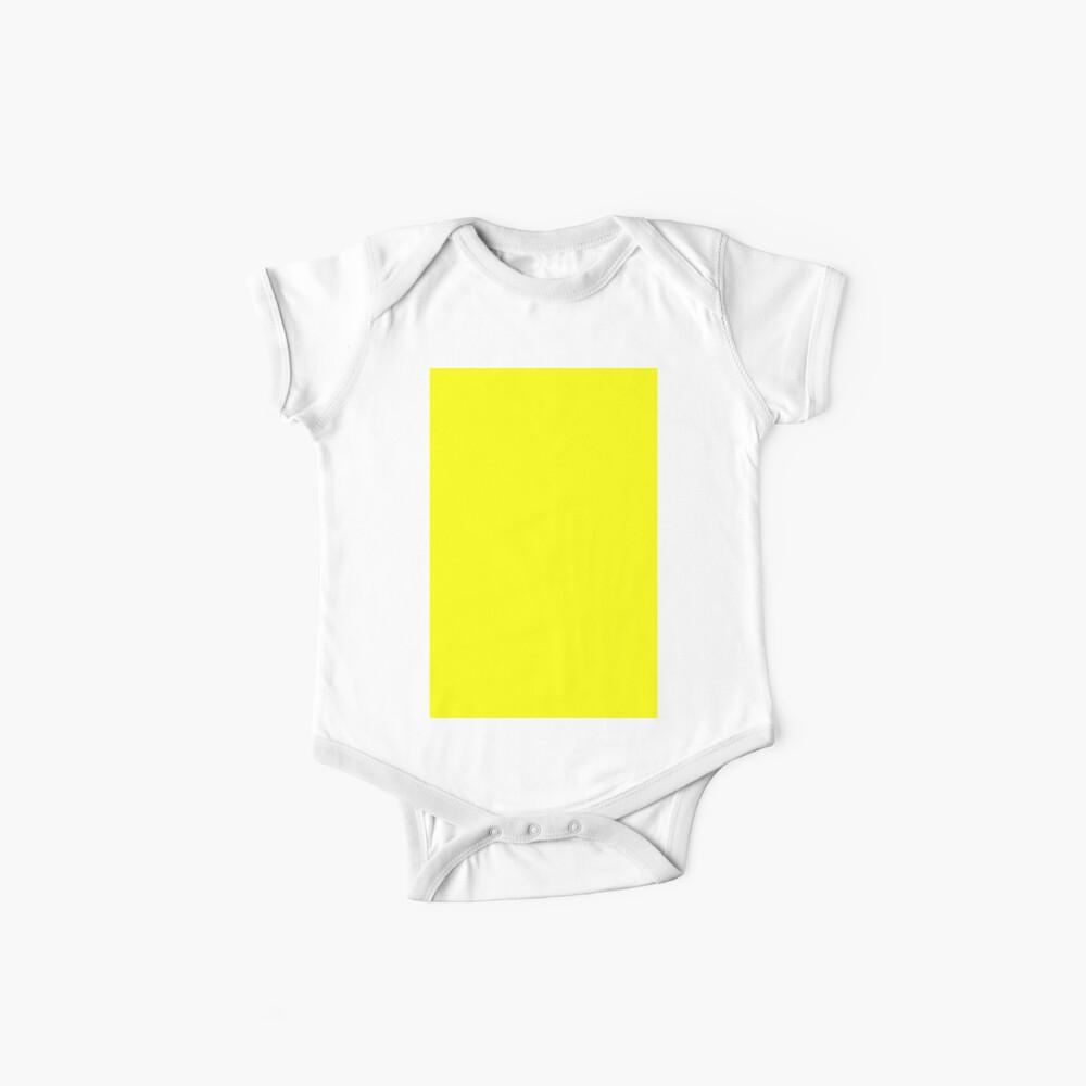 Neon fluorescent Yellow | Yellow|neon Yellow/Fluro Yellow Baby One-Piece