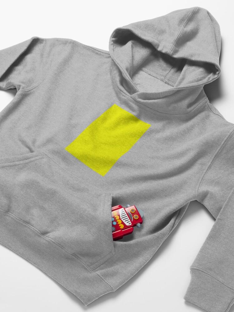 Alternate view of Neon fluorescent Yellow   Yellow neon Yellow/Fluro Yellow Kids Pullover Hoodie