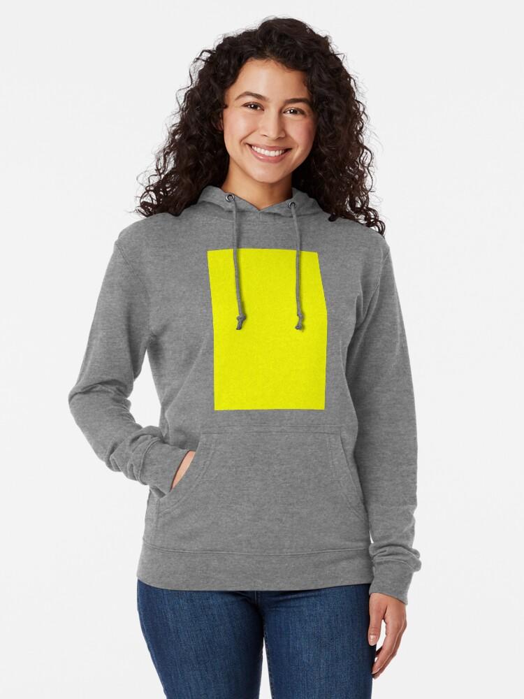 Alternate view of Neon fluorescent Yellow | Yellow|neon Yellow/Fluro Yellow Lightweight Hoodie