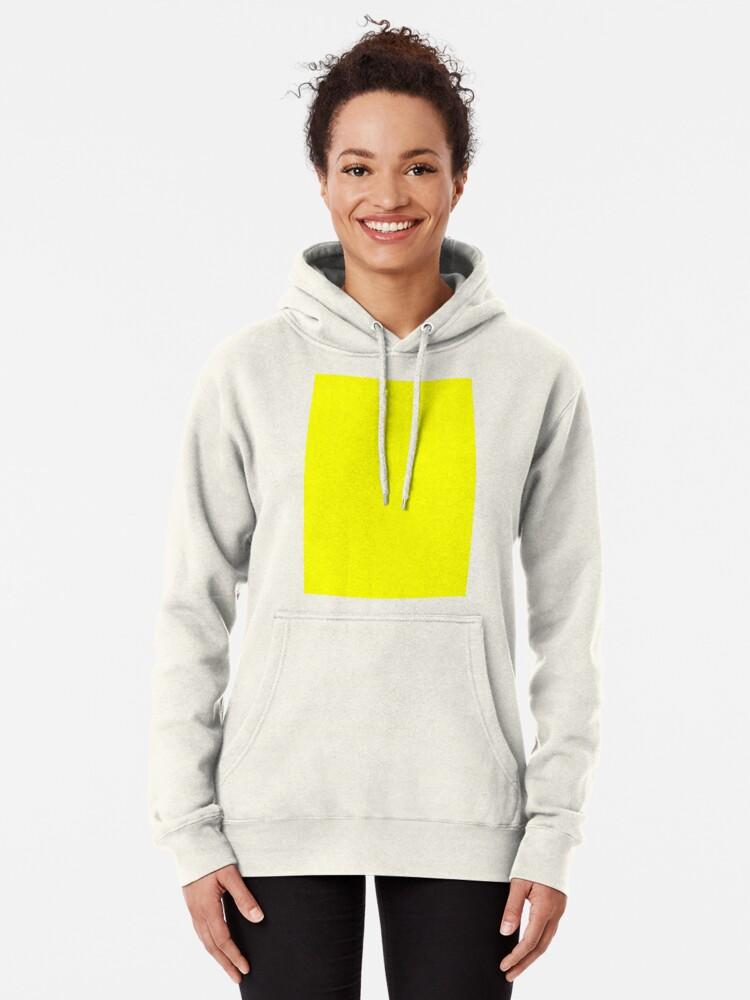 Alternate view of Neon fluorescent Yellow | Yellow|neon Yellow/Fluro Yellow Pullover Hoodie