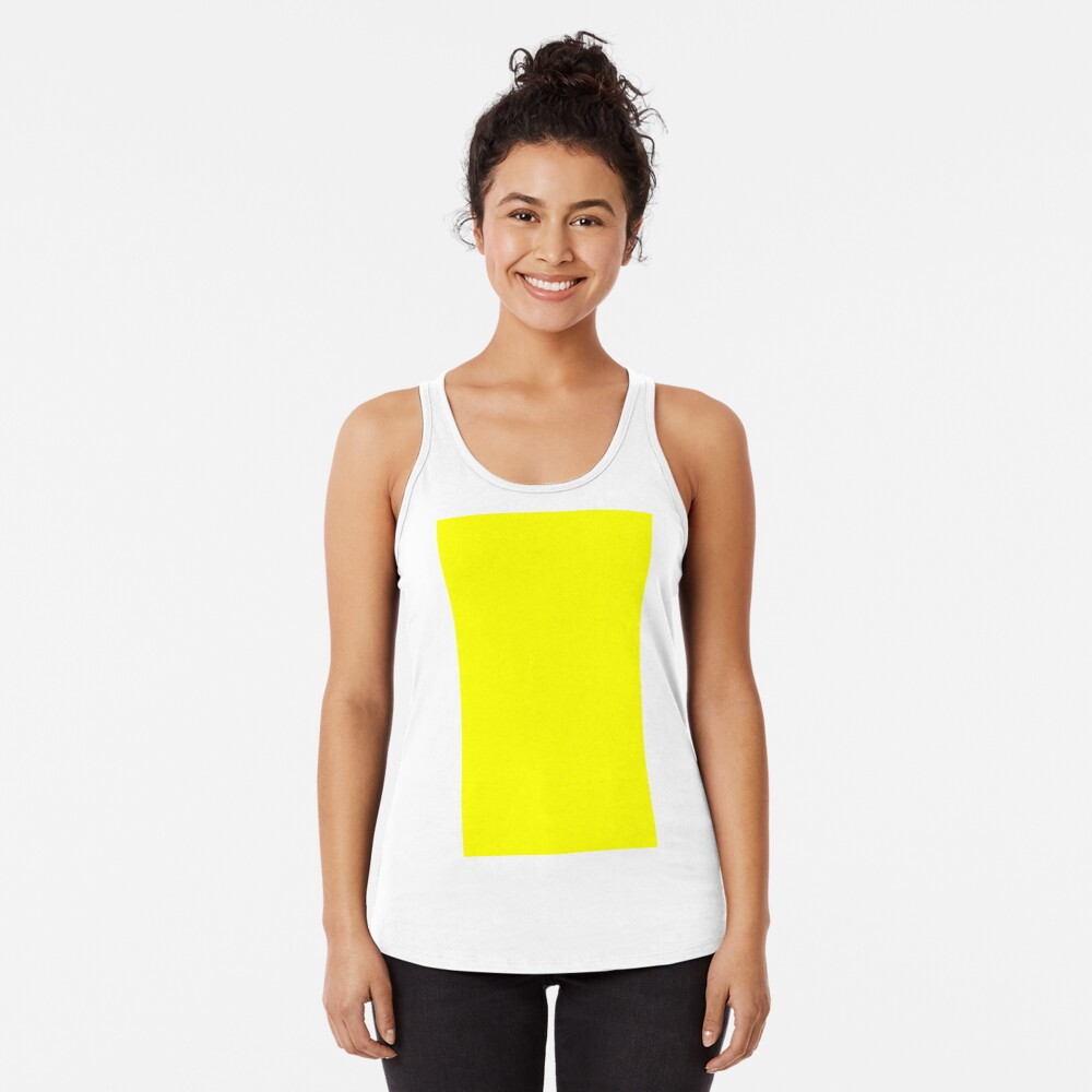 Neon fluorescent Yellow | Yellow|neon Yellow/Fluro Yellow Racerback Tank Top