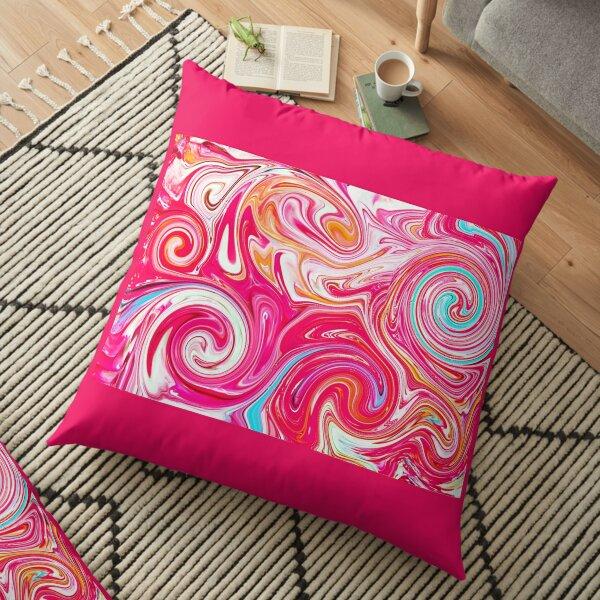 #Cotton Candy swirl Floor Pillow