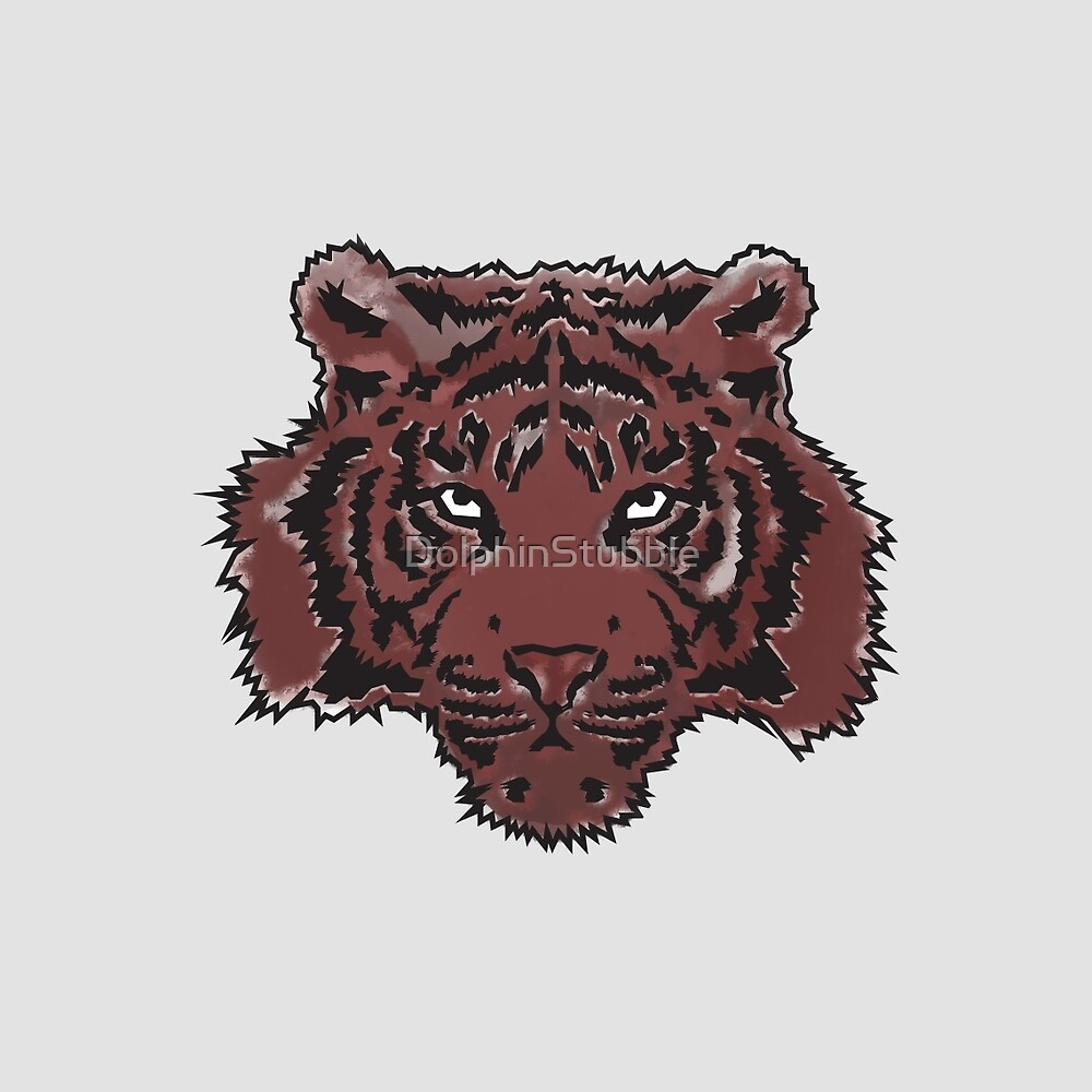 Red Abstract Tiger by DolphinStubble