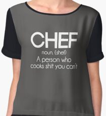 Definition of a Chef Funny Chiffon Top