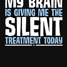 My Brain Is Giving Me The Silent Treatment Today by HelMick