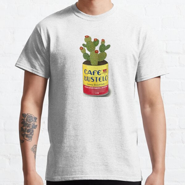 Cactus in a cafe bustelo can kitchen art Classic T-Shirt
