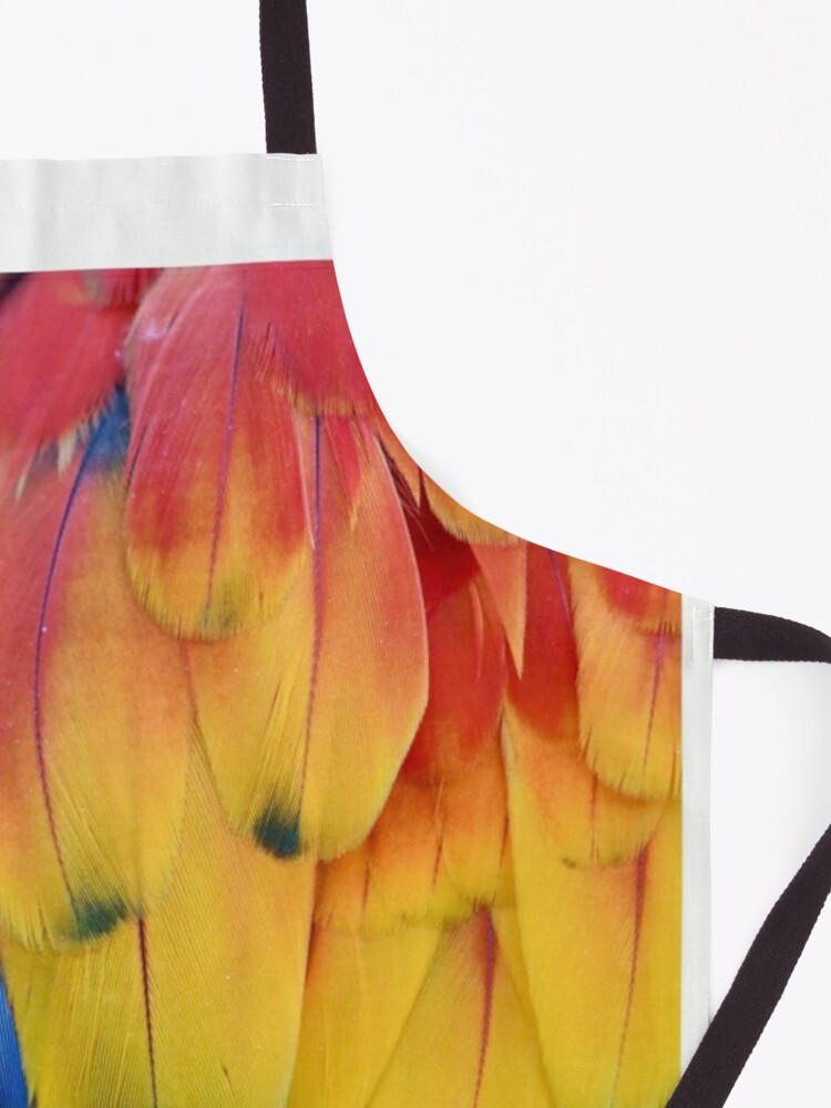 Alternate view of Closeup Colorful Parrot Feathers Apron