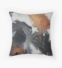 Mono Copper  Throw Pillow