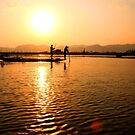 Burmese fishermen by David McGilchrist