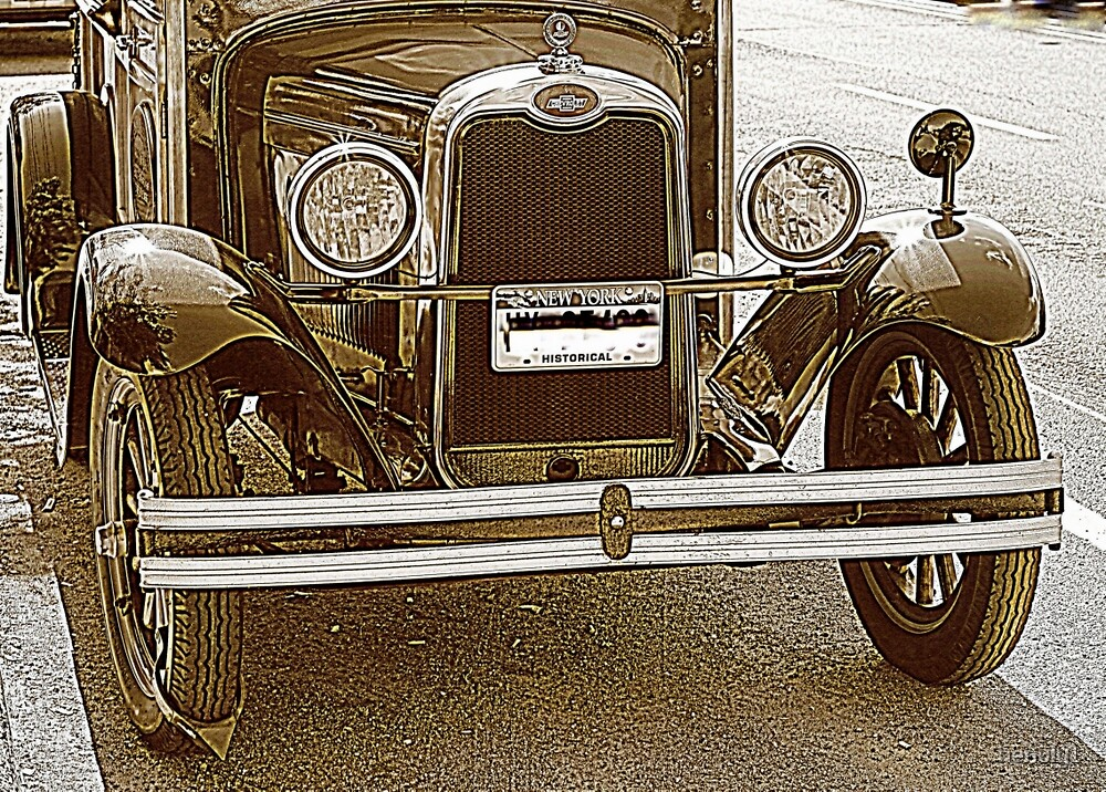 Old restored Ford truck B&W by henuly1