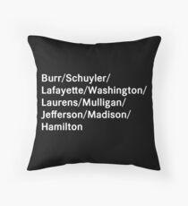 Hamilton Names Throw Pillow