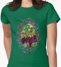 Grunge Eagle Sketch 2 Womens Fitted T-Shirt