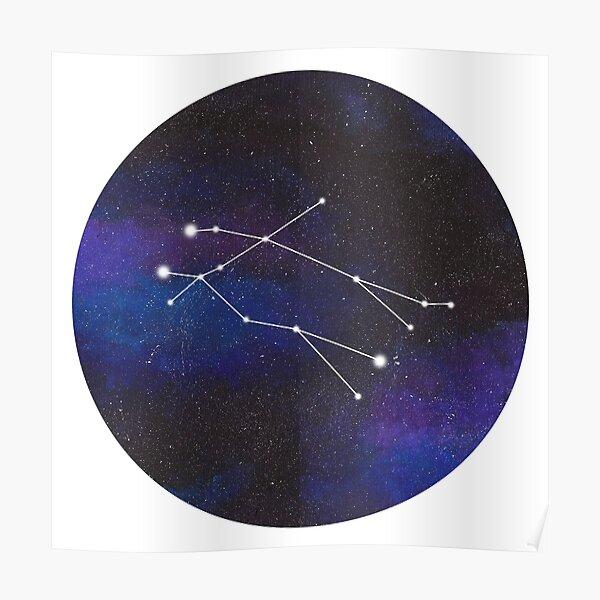 Gemini - galaxy star constellation Poster