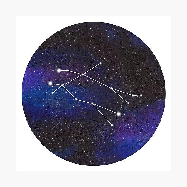 Gemini - galaxy star constellation Photographic Print