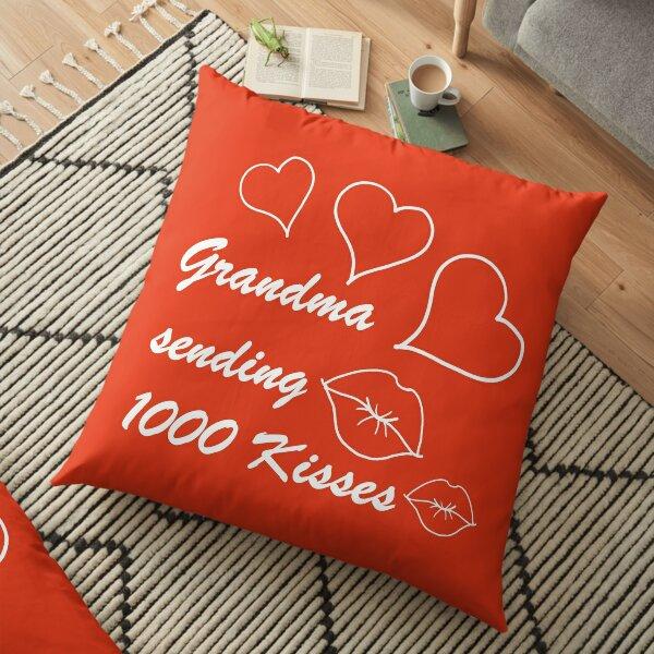 Granny Kisses Floor Pillow