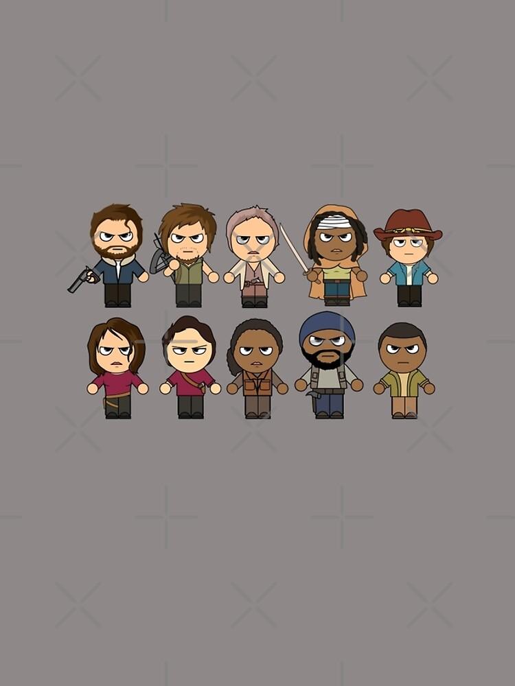 The Walking Dead - Personajes principales Chibi - AMC Walking Dead de ptelling