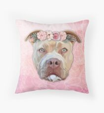 Pretty Pitbull Throw Pillow