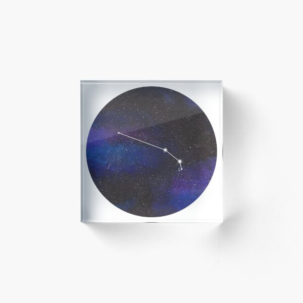 Aries - galaxy star constellation Acrylic Block