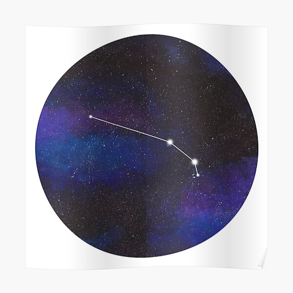 Aries - galaxy star constellation Poster