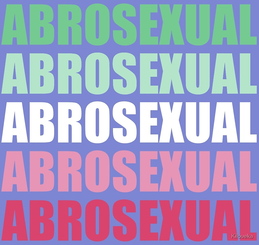 Abrosexual Typography by Kiloueka