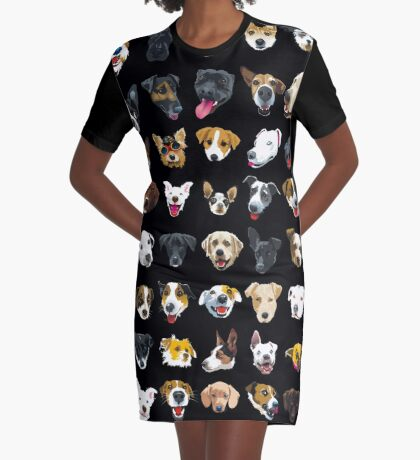 pooches Graphic T-Shirt Dress