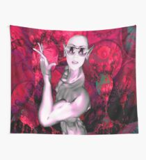 Alien Contact Wall Tapestry