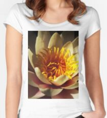 Pink and Yellow Waterlily  Women's Fitted Scoop T-Shirt