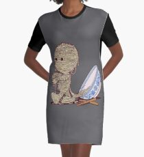 Spaghetti Mummy Graphic T-Shirt Dress