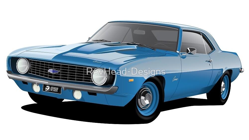 1969 Chevrolet Camaro - Blue by RevHead-Designs