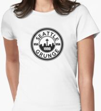 Seattle Grunge Womens Fitted T-Shirt