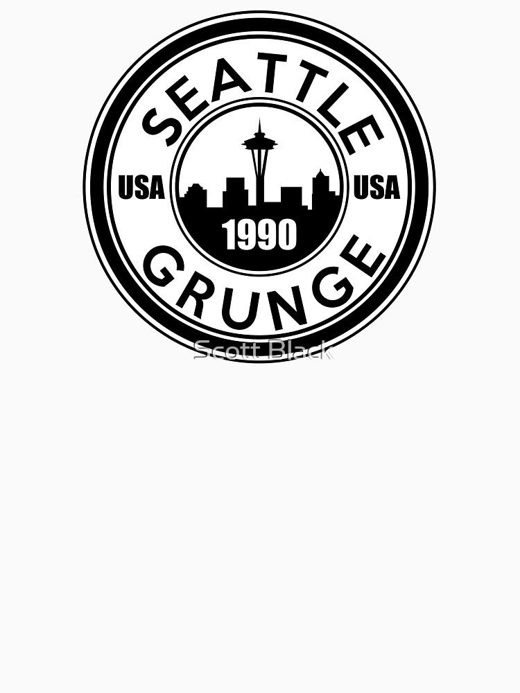 Seattle Grunge   Baseball  Sleeve