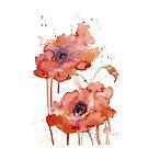 Crimson Poppies by Rhana Griffin