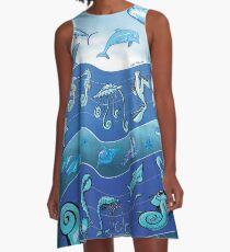 Ocean's Symphony A-Line Dress