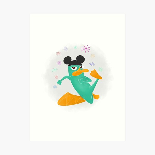 Phineas and Ferb Agent P With Mickey Ears Art Print