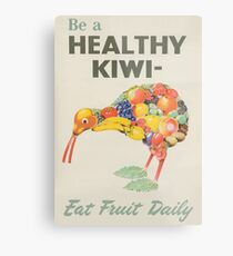 Healthy Kiwi  Metal Print